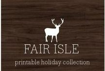 My Products | Fair Isle printable collection