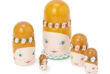 Russian Matreshka Doll Designs / We sell blank russian dolls for you to take home and decorate! Here is some inspiration...