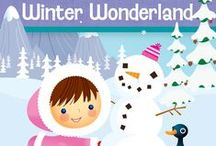 "What's Inside ""Winter Wonderland"" / In this icy adventure your children will pretend to sled with the penguins, run with the caribou and build an igloo. They will help rescue a baby polar bear from an iceberg and imagine skiing down a mountain. Experiment with melting ice and explore the arctic in this sparkling, snowy theme.  #mothergoosetime #winterwonderland"