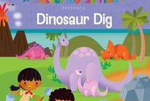 "What's Inside ""Dinosaur Dig"" / Invite your children to dig up fossils and compare things old and new in this Jurassic theme. Children will work together to reconstruct a dinosaur footprint that is bigger than their bodies. They will pretend to hunt for leaves with a baby triceratops, fly with a pterodactyl, and help T-Rex find safety from the erupting volcano. Excitement awaits them along this science-filled investigation. - See more at: http://www.mothergoosetime.com/monthly-themes/dinosaur-dig/#sthash.RxUoB3hN.dpuf"
