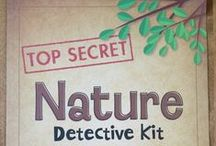 "What's Inside ""Nature Detectives"" / Summertime is full of mystery and new adventure. Your children will explore the sights and sounds of their natural environment as they create nature-based art.They will investigate, discover and experiment in the outdoors as they hone their observation skills and become nature detectives. - See more at: http://www.mothergoosetime.com/monthly-themes/nature-detectives"