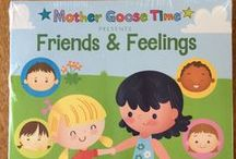 "What's Inside ""Friends & Feelings"" / Welcome your children to a wonderful new year of school and help them learn important lessons about friendship, taking turns, understanding differences and saying sorry. Your children will practice teamwork as well as many different ways to communicate their feelings. Practice dialing a phone and even write a letter to a pen pal. Friends and Feelings is a special and warm way to start a great year. - See more at: http://www.mothergoosetime.com/monthly-themes/friends-feelings"
