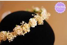 Coronas artesanales / Coronas artesanales de flores para niñas de arras, niñas de comunión, novias, invitadas...