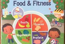 "What's Inside ""Food & Fitness"" / If your children are hungry for learning, they will love this delicious experience. Follow food from the farm to the truck that picks it up, then on to the market, bakery and all the way to your table. Learn the basics of measuring, pouring, stirring and chopping. After a well-balanced meal, go outside for a marathon of jumping, kicking, catching and relay races. Everyone is a winner in this learning adventure. - See more at: http://www.mothergoosetime.com/monthly-themes/food-fitness"