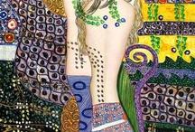 Art by Gustav Klimt / modern art / by Mary Luz Handler