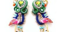 fashion and style / one of a kind or limited edition , handmade bead embroidered & soutache jewelry