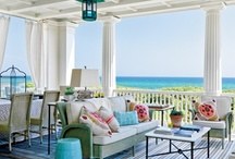 Beach home interiors in shades of aqua and driftwood / Ideas for our future vacation rental home / by Kellyn Prehm