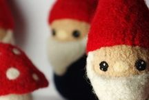Gnome / Cute and adorable garden gnomes.  Inspiration for crafts and home decor. Includes indie handmade makers.