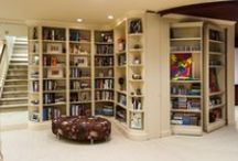 Bookcases / Bookcases offer storage and display for books, collection, object d'art, and the items we love.  Ideas on how to style bookcases, etageres, bookshelves, and floating shelves. / by Textures Flooring Nashville
