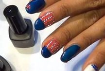 Red, White & Blue Manis / Get patriotic with a little 4th of July nail inspiration!