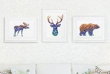 Moose / Cute and adorable moose.  Inspiration for crafts and home decor. Includes indie handmade makers.