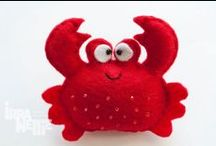 Crab / Cute and adorable crabs.  Inspiration for crafts and home decor. Includes indie handmade makers.
