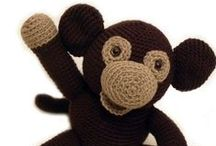 Monkey / Cute and adorable monkeys, including sock monkeys. Inspiration for crafts and home decor. Emphasis on toys for kids and children. Includes indie handmade makers: knitted, crocheted and sewn.