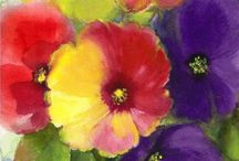 Water Color Novice / 2016 - on the bucket list - learn to paint with water colors