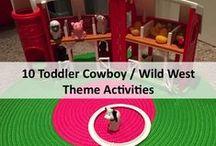 Toddler cowboy Wild West theme