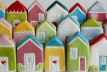 The Little Red Door  / small things, huge awesome. Ceramic Miniatures & Little Houses    thelittlereddoor.etsy.com