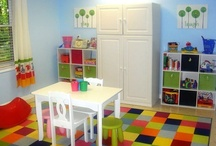 Playroom Ideas / Ideas for playroom, craft room, homeschool room, home office. Or a combination of said rooms.