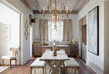 Home Ideas - Dining Room / Dining Room - Design - Decor - Layout - Inspiration - Ideas