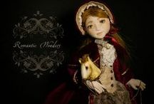 Jannette / textile handmade ooak doll by Romantic Wonders