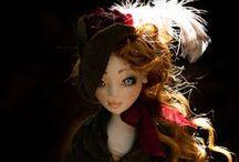 Irene Forsyte / Handmade textile doll by Romantic Wonders  www.rwdolls.com