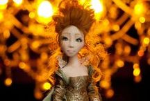 Roxanne / handmade textile doll by Romantic Wonders.  One of a kind 2013