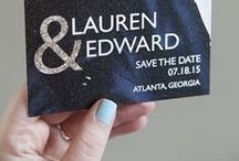 Invitations / A great way to get use out of your wedding or engagement photos is to use them on Save The Date cards or Wedding Invitations!