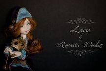 Lucia / ''Lucia'', Commedia del' arte by Romantic Wonders Dolls. Handmade textile doll, OOAK, 2013