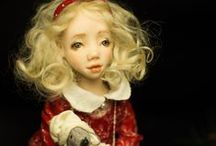 Noel / Noel. Handmade polymer clay BJD doll Materials: polymer clay,mohair, cotton fabrics,wool fabric,silk fabrics, natural leather, cristal beads, vintage beads, natural pearls, velvet,silk velvet, knitting fabric, laces. Wooden stand Custom doll. 2014