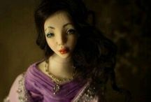 Dovima / Handmade Ooak polymer clay doll by Romantic Wonders.