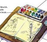 Urban Sketching + Watercolour / Alles zum Thema Urban Sketching und Watercolour, Unterwegs zeichnen und malen, draußen zeichnen und malen, mit Aquarellfarben und Wasserfarben malen.