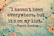 'Travel is the only thing you can buy that can make you richer' Places I want to go someday (soon!)