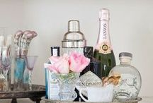 *Bars & Bar Carts / Entertaining, Presentation, Set-up / by Linda Diane Martinez-Fenley