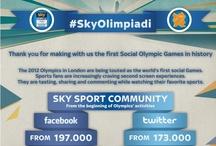 #SkyOlimpiadi / Le Olimpiadi di Londra sono state le prime Olimpiadi che hanno accentrato le conversazioni sociali della Rete, e le #SkyOlimpiadi hanno segnato una svolta decisiva per il marketing sportivo e il futuro della social television