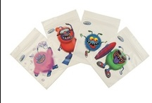 WEXY Snack Bags / Fun, Colorful, Eco-friendly Disposable Snack Bags, featuring four funky monsters that kids love.  WEXY bags are Biodegradable, BPA free, Recyclable and Reusable. Perfect for healthy snack ideas!