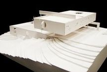 architectural models / Models for design development or the presentation of architecture