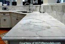 Kitchen Countertops--The Nine Most Popular Materials / Kitchen-countertops are probably the most used and abused part of your home. They need to look good and yet be able to handle everything from knocks and scratches to corrosive substances and boiling water.  Here is a comparison of some of the most popular countertop-materials used in kitchen-countertops that will help you choose the surface that best suits your needs and budget.