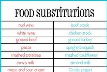 Food-Tips and substitutions