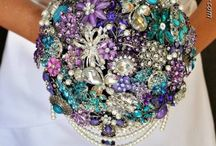 Bouquets - Broach & Silks / by Tori - Platinum Elegance Weddings & Events
