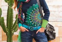 Desigual / Inspiration for creating fashion art with paint, applique, and textiles.
