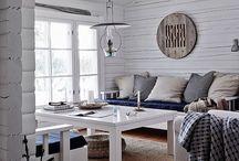 Sommarstuga- vardagsrum
