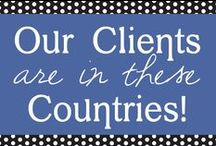 OUR CLIENTS ARE IN THESE COUNTRIES / We represent brands and clients all over the world! Find some of our fun finds that represent the flags of the countries we work in - Canada, UK, France, Holland, and of course the good ole U.S.A.  / by PuTTin' OuT Social Media Marketing