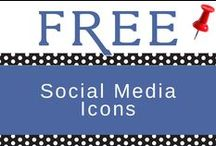 FREE SOCIAL MEDIA ICONS / Click on any of our FREE social media icons and buttons to see even more that we've added to our blogs. It's fun to add a designer social media image that fits your brand personality. It's even more fun when you can do it yourself for FREE!  / by PuTTin' OuT Social Media Marketing