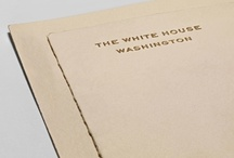 Presidents / The stationery of choice for your house... and the White House.