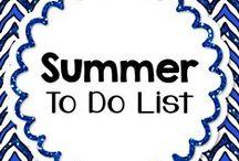 Summer To Do List