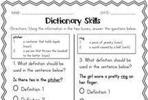 Dictionary/Glossary Skills / by Anna Hulsey