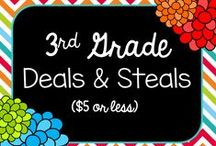 3rd Grade Deals & Steals ($5 & Under) / A product & idea board for 3rd grade topics and items-- all for under $5 (or free, of course).   Rules for the board:  1. Keep the topics focused on 3rd grade standards 2. Try not to flood the board with the same product 3. Pin ONLY items $5 and less (or I have to delete them) 4. Have fun!