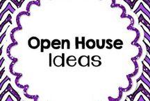 Open House / Meet the teacher & Open House ideas.