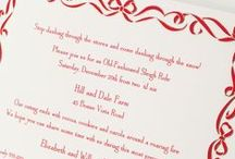 Festive Fetes / Holiday invitations with classic cheer.