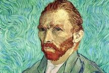 """Van Gogh / Vincent Van Gogh - Artist - Birthday: March 30, 1853 - """"I must continue to follow the path I take now. If I do nothing, if I study nothing, if I cease searching, then, woe is me, I am lost."""""""