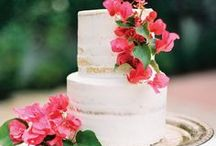 Reception: Wedding Cakes / Wedding cakes come in all shapes and sizes. From naked cakes to towering tiered cakes to cakes adorn with fresh florals, find your dream wedding cake inspiration from local Arizona bakeries!